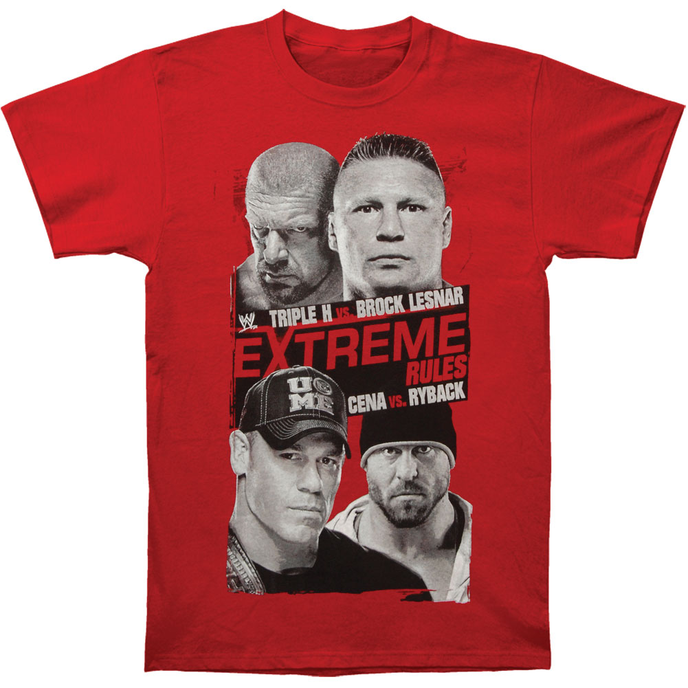 WWE Men's  Extreme Rules 2013 T-shirt Red