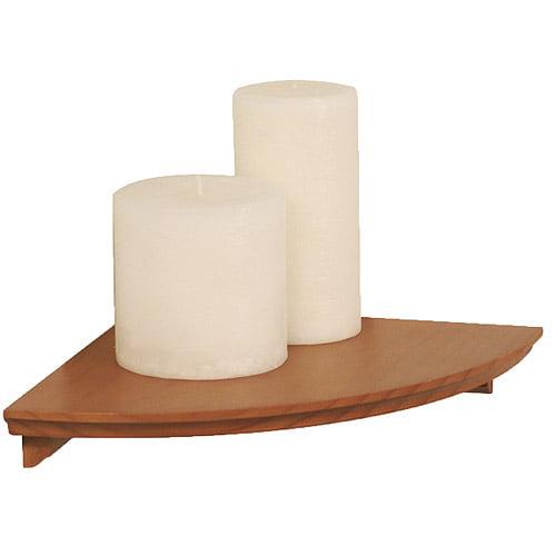 "InPlace Shelving 12"" W x 12"" D x 1.88"" H Corner Wood Wall Shelf Kit, Honey Oak"