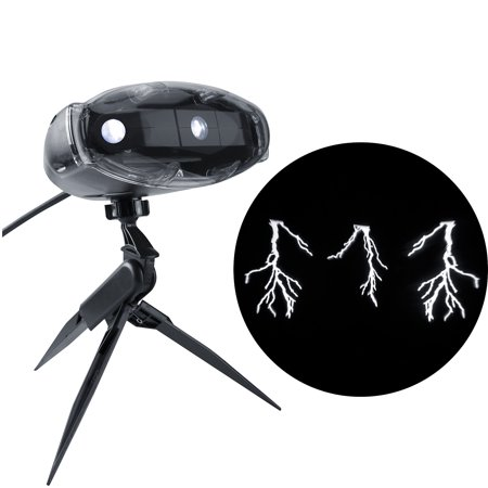 Halloween Lightshow Projection - Thunder Bolt with Sound - Halloween Sounds Effects