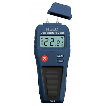 REED R6018 Dual Moisture Meter, Pin/Pinless