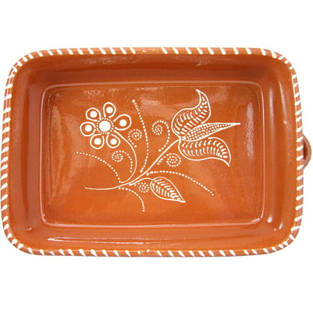Traditional Portuguese Hand Painted Vintage Clay Terracotta Cooking