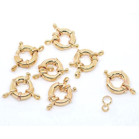 Sexy Sparkles  Gold Tone Round Spring with Attachment Rings (Spring Attachment)