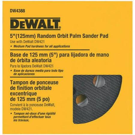 DEWALT DW4388 5-Inch Random Orbit Palm Sander Pad, Medium (Fits the DW421K and (Shop Vac Adapter For Dewalt Orbital Sander)