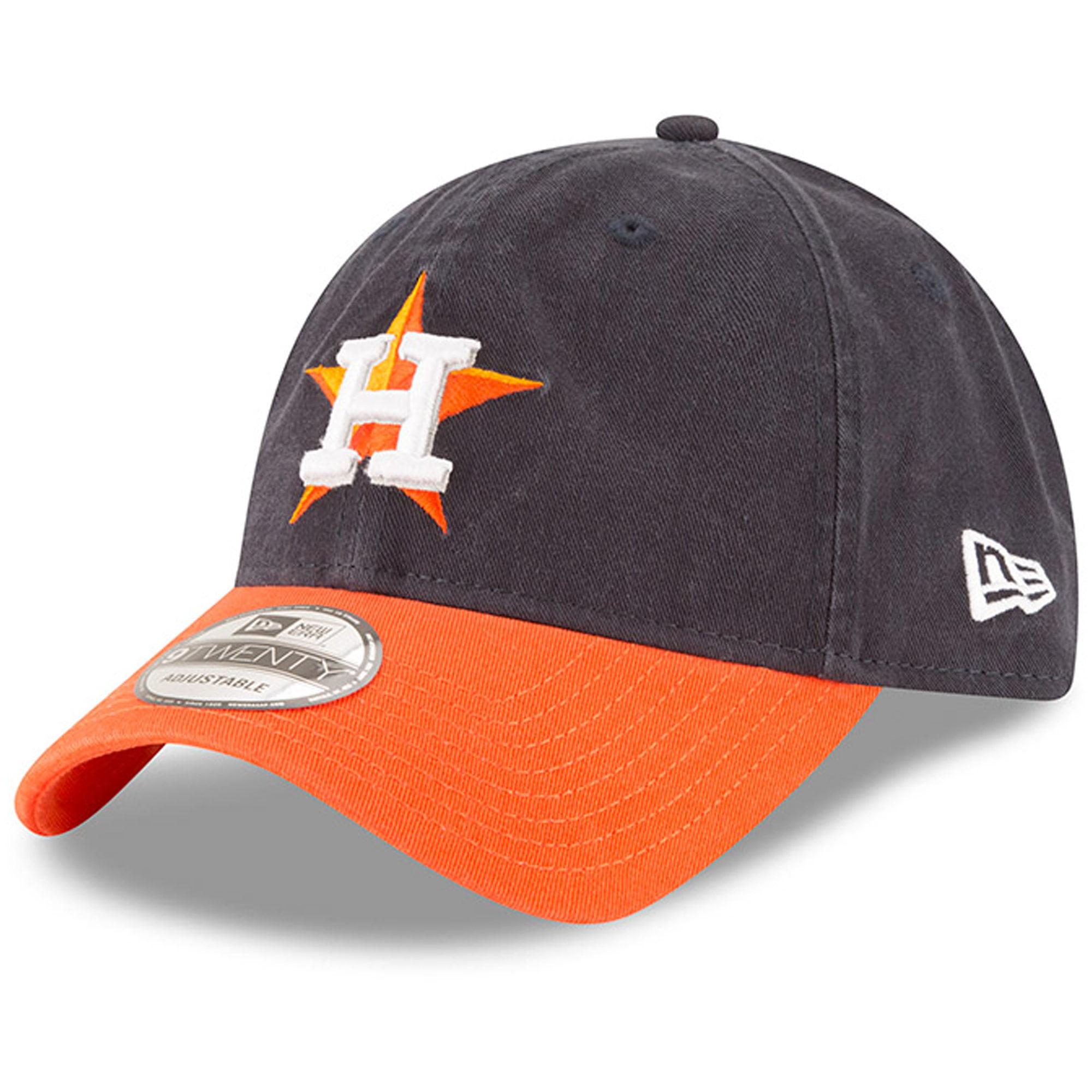 Houston Astros New Era Road Replica Core Classic 9TWENTY Adjustable Hat - Navy/Orange - OSFA