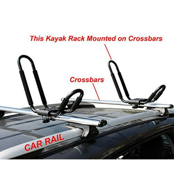 Tms J Bar Rack Hd Kayak Carrier Canoe Boat Surf Ski Roof Top Mounted On Car Suv Crossbar Com
