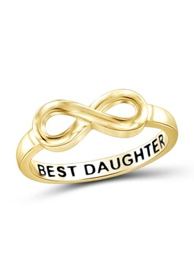 Best Daughter Sterling Silver Infinity Loop Message Ring
