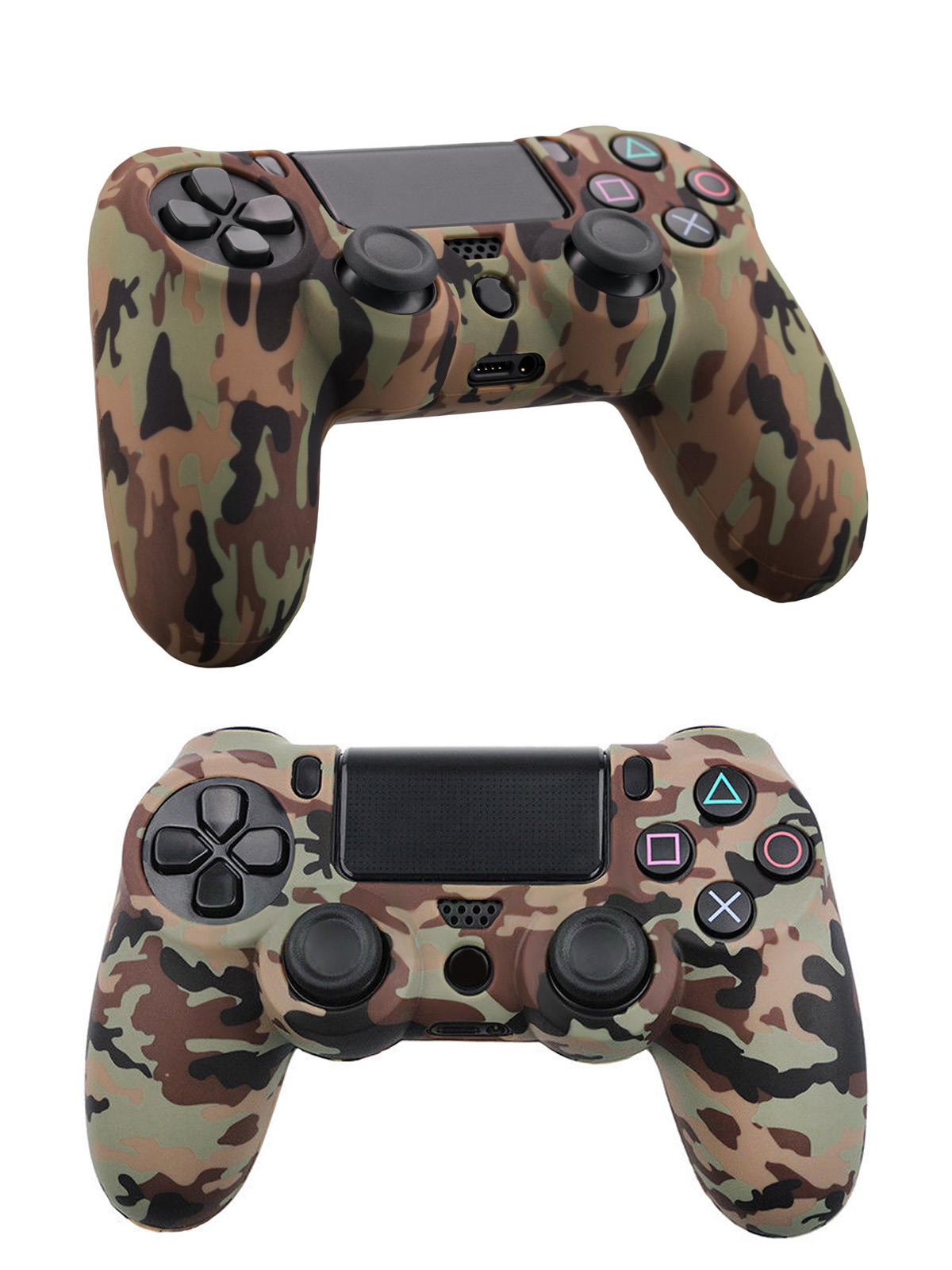 TSV Silicone PS4 Controller Skin, Design of Water Transfer Printing Skin  Protector Anti-Slip Silicone Cover Case for Sony PlayStation 4 Controller