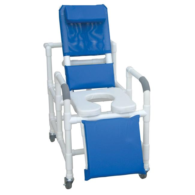 MJM International 193-SSDE-SQ-PAIL Reclining Shower Chair
