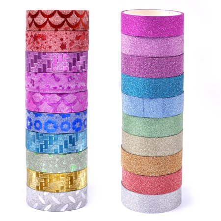 eZAKKA 20 Rolls Washi Masking Tape Set,Decorative Craft Tape Collection DIY Gift Wrapping Colorful Designs Patterns - Fall Washi Tape