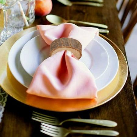Hibetterlife Wooden Round Wooden Pendant Napkin Ring Crafts Production Hotel DIY Wedding