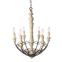 LNC 6-Light Shabby Chic Country Chandelier Lighting Rustic Pendant Lights Chandeliers
