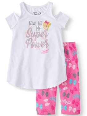 d845e6de7 Product Image JoJo Cold Shoulder Tee and Capri Legging, 2-Piece Outfit Set  (Little Girls