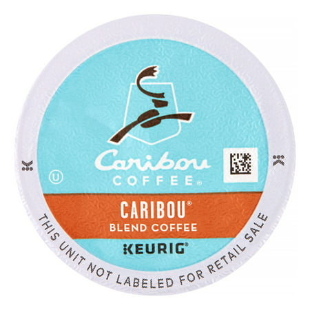 Caribou Coffee Medium Single Serve for Keurig, Caribou Blend, 24 Ct