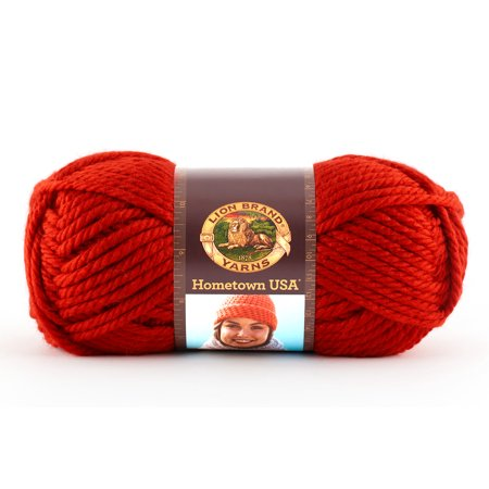 Lion Brand Yarns Hometown USA Acrylic Cincinnati Red Classic Bulky Yarn, 1