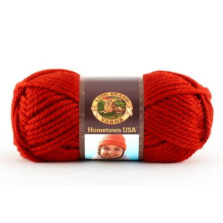 Lion Brand Yarns Hometown USA Acrylic Cincinnati Red Classic Bulky Yarn, 1 - Red Lion Nyc Halloween