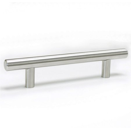 Satin Stainless Handle Pulls (Stainless Steel Bar Handle Pull, 6