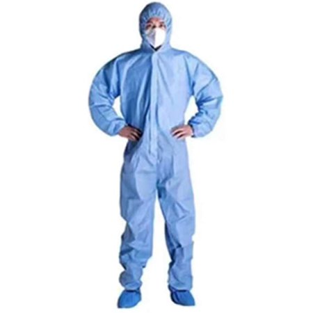 Blue Disposable Protective Coveralls Chemical Protective Overalls Disposable Hooded Splashproof Isolation Coverall Suit Protective Polypropylene Disposable Coveralls