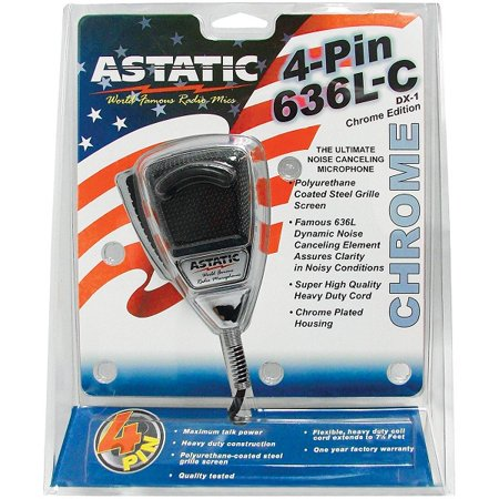 ASTATIC 302-10187 CB Mic with SS Cord,Chrome,4 (Astatic Cb Mic)