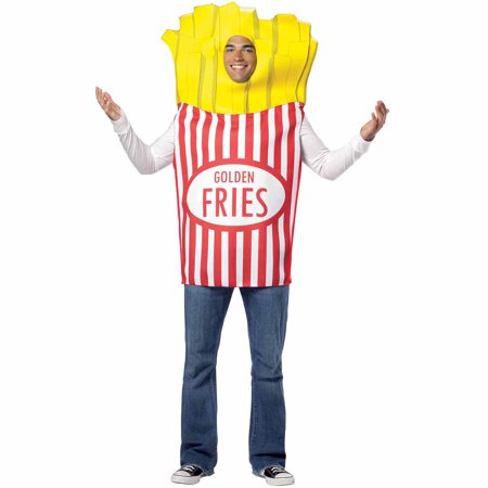 French Fries Adult Halloween Costume](50th France Halloween)