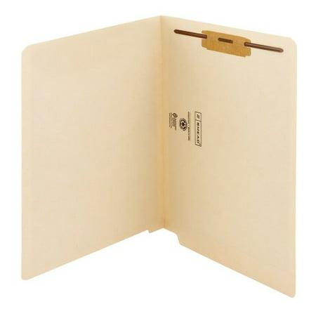 Manila Folders, One Fastener, End Tab, 11pt, Letter, Manila, 50/box
