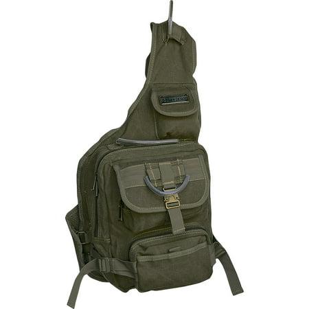 EuroSport Cargo Sling Backpack Olive Canvas Bag (Eurosport Canvas Backpack)