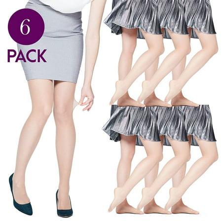 831e2a178b4 Felicity - 6 Pack of Womens Silky Ultra Sheer Pantyhose