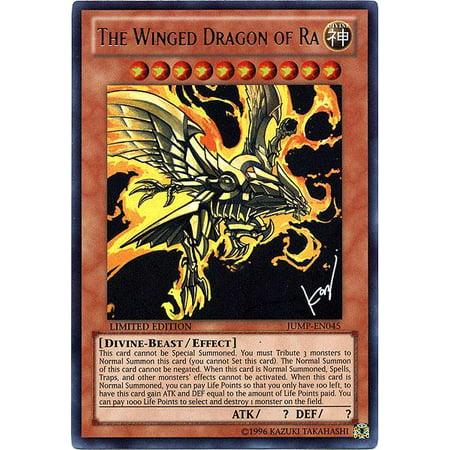 Yu-Gi-Oh Shonen Jump Single Card Ultra Rare Winged Dragon of Ra JUMP-EN045