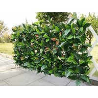 e-joy 24 Piece Artificial Topiary Hedge Plant Privacy Fence Screen Greenery Panels Suitable for Both Outdoor or Indoor, Garden or Backyard and Home Decorations, European Laurel, 20'' L x 20'' H