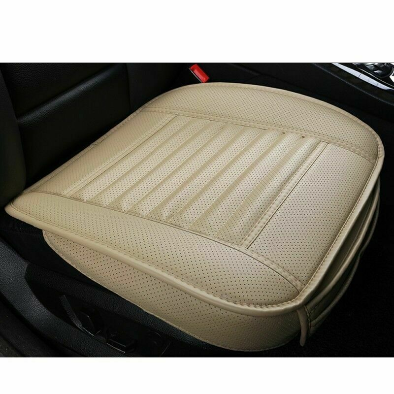3D Universal Car Seat Cover Breathable PU Leather Pad Mat for Auto Chair Cushion Office Chair-Black