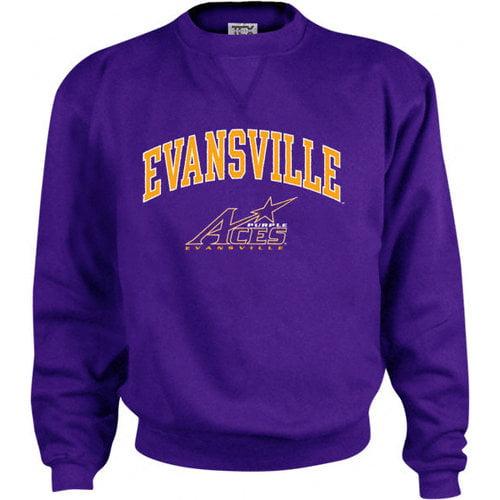 NCAA - Evansville Purple Aces Perennial Crewneck Sweatshirt