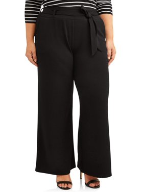 Terra & Sky Plus Size Wide Leg Pant Women's