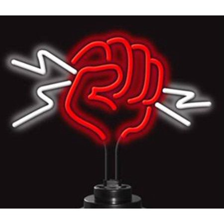 Neonetics Business Signs Fist with Lightning Neon Sign Sculpture