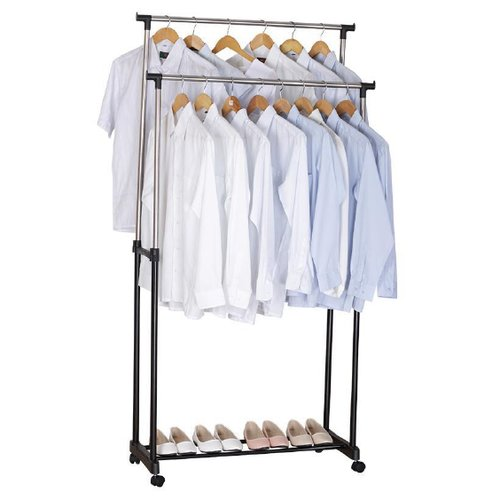 Rebrilliant 34u0027u0027W Adjustable Garment Rack