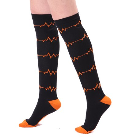 Compression Socks for Women Best Stamina Recovery Athletic & Medical Running, Soccer, Edema, Nurses, Varicose Veins, Flight, Travel, Pregnancy, Shin Splints Stockings (#1,