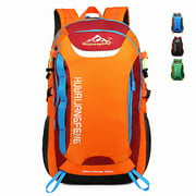 20L Waterproof Backpack Outdoor Sports Bag + 4-Section Folding Walking Stick for Travel Camping Hiking Mountaineering