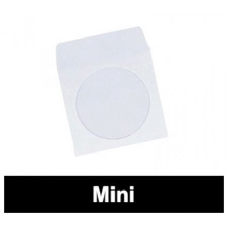 CheckOutStore 300 Mini Paper CD Sleeves with Window & Flap