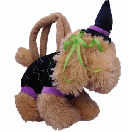 Olly & Friends Halloween Witch Plush Purse Puppy Dog Tote Bag Pal
