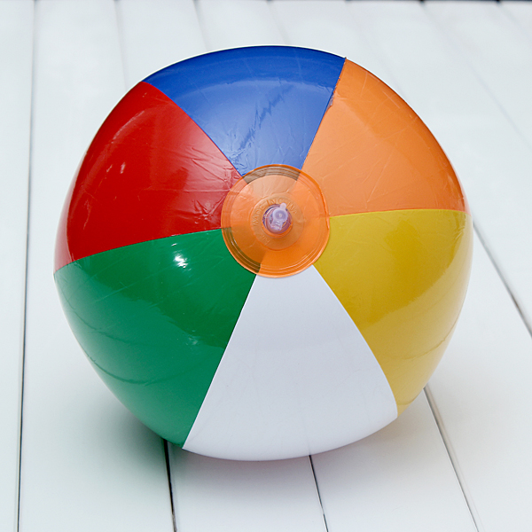 9 Inch Rubber Inflatable Beach Ball Blow Up Holiday Party