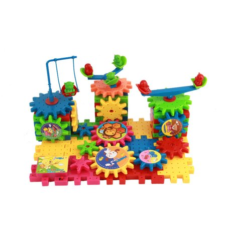 HomeholidayChildren Colorful Plastic Electric Gears 3D Puzzle Building Blolck Kits Bricks Educational Toys Kids Gifts - image 1 of 8
