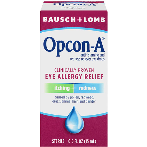 Bausch And Lomb Itching And Redness Reliever Opcon-A Eye Drops, .5 fl oz
