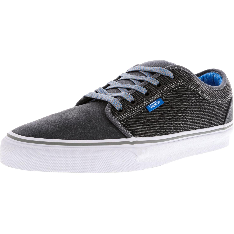 cf072643badf Vans - Vans Men s Chukka Low Black   Pewter White Ankle-High Canvas  Skateboarding Shoe - 7M - Walmart.com