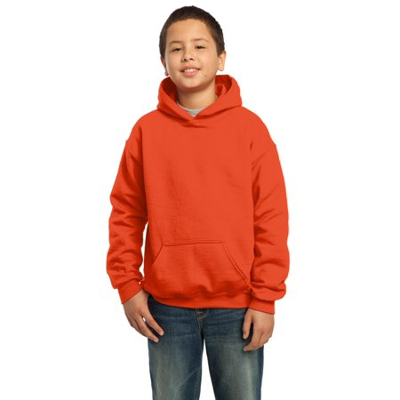 Gildan Boys Long Sleeve Front Pouch Pocket Hooded Sweatshirt. 18500B ()