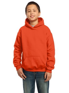 Gildan Boys Long Sleeve Front Pouch Pocket Hooded Sweatshirt. 18500B
