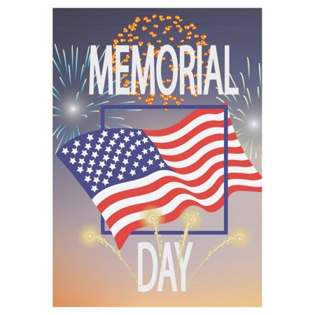 MYPOP Patriotic Memorial Day USA Flag House Garden Flag Banner 28 x 40 inch