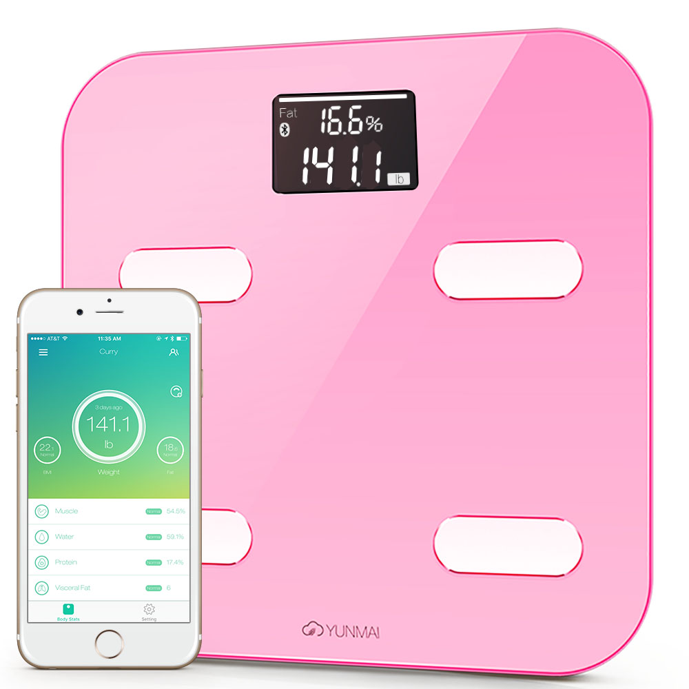 #1 Smart Scale Brand--Yunmai Color FDA Listed 2 Million Users Bluetooth Body Fat Scale & Body Composition Monitor with Free Fitness App and Extra Large Display