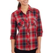 Women's Button-up Plaid Shirt