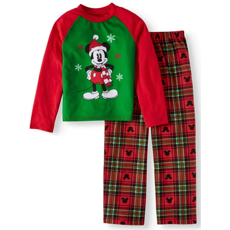 Mickey Mouse Holiday Family Sleep Pajamas, 2-piece Set (Little Boys & Big Boys)