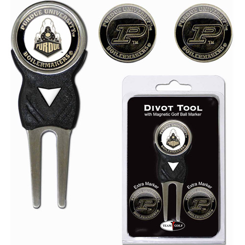 Team Golf NCAA Purdue Divot Tool Pack With 3 Golf Ball Markers