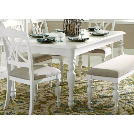 Liberty Furniture Industries Summer House Rectangular Dining Table White Rectangular Dining Table