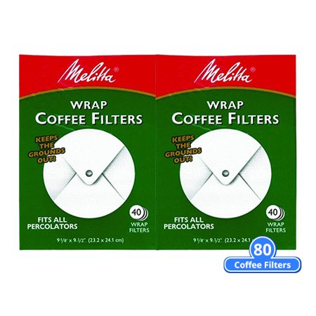 Melitta 627402 Percolator Coffee Filters Wrap Around 80 Counts (2-Pack of 40 Counts) ()